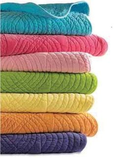Great colors for kids rooms decor -Cotton Velvet Quilts, hot pink, lime green, turquoise