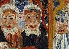 James Ensor - Entry of Jesus Christ to Brussels - Detail James Ensor, 13 Avril, Art Archive, Epoch, Les Oeuvres, Printmaking, Jesus Christ, Modern Art, Baron