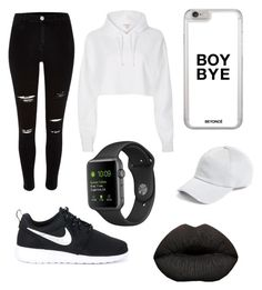 """""""Black and white⚪️⚫️"""" by n-alawadi ❤ liked on Polyvore featuring River Island, NIKE and rag & bone"""