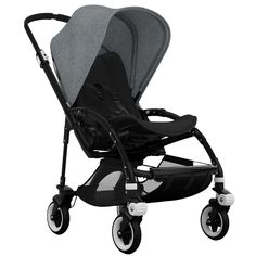 Bugaboo Bee3 Stroller - Black - Black - Grey Melange