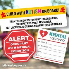 Sticker are not only fun, but can ba also use in many helpful ways! #allergy #allergyalert #medicalstickers #autism #autismawareness #autismcanada #yeg #yyc #edmonton #alberta #stickerbeaver #MakeYourIdeasStick