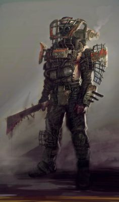 View an image titled 'Raider Concept Artwork' in our Fallout 4 art gallery featuring official character designs, concept art, and promo pictures. Fallout 4 Concept Art, Fallout Fan Art, Fallout Raider, Fallout New Vegas, Fallout Weapons, Post Apocalypse, Cyberpunk, Apocalypse Character, Dystopia Rising