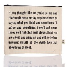 Thought Like Me Pouch, $18, now featured on Fab.