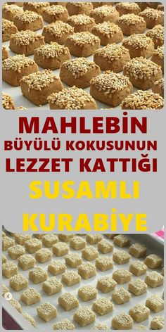 If you are wondering how to make a sesame-flavored cookies recipe, all … - Kekse Cookie Base Recipe, Cookie Recipes, Köstliche Desserts, Delicious Desserts, Most Delicious Recipe, Turkish Recipes, Chocolate Recipes, Snacks, Pasta Recipes