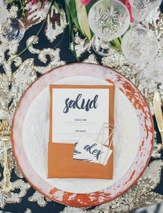 La Tavola Fine Linen Rental: Lily Gold over Topaz Slate with Tuscany Amber Napkins | Photography: Suzy Van Dyke, Planning & Design: Orange Blossom Special Events, Venue: The Ebell Club in Long Beach, Florals: Inessa Nichols
