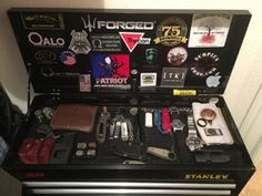 Click this image to show the full-size version. - Realty Worlds Tactical Gear Dark Art Relationship Goals Tool Box Storage, Weapon Storage, Gun Storage, Everyday Carry Items, Edc Tactical, Bug Out Bag, Edc Gear, Man Decor, Diy And Crafts