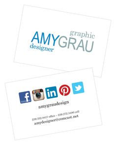 New Business Card #amygraudesign