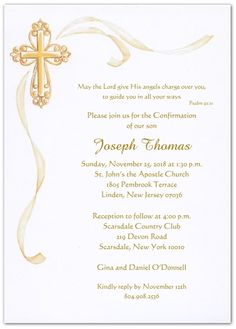 Baptism invitations in spanish baptism invitation wording in confirmation invitations templates stopboris Gallery