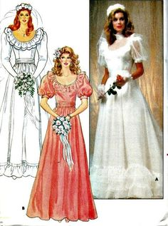Summer Wedding Gown Pattern Butterick 4765 1986 Vintage Wedding Gown Pattern UNCUT, Factory-Folded Bust OFF Summer Wedding Gown Pattern Butterick 4765 1986 Vintage Wedding Gown Pattern UNCUT, Factory-Folded Bust 1980s Wedding Dress, Summer Wedding Gowns, Designer Wedding Dresses, Wedding Fun, Wedding Dress Sewing Patterns, Bridal Dresses, Bridesmaid Dresses, Gown Pattern, Wedding Dress Accessories