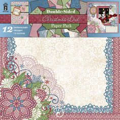 Christmas Lace Double-sided Paper Pack by Hot Off The Press Inc (4104187)
