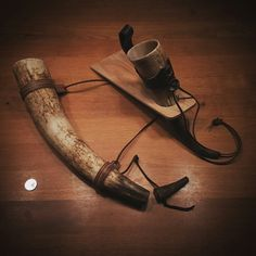 My blowing and drinking horns. The blowing horn (from an Ankole Longhorn cattle) makes a wonderful deep gentile sound and beer of course tastes best from the beautiful twisted grown drinking horn (German cattle). #horn #horns #cattle #asatru #fornsed #heathen #heathens #pagan #odin #thor #vikings #viking #norse #religion #gods #god #mythology #beer #bier #drink #blowhorn
