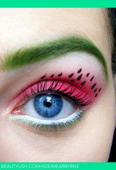 Watermelon Makeup   Watermelon Eye Makeup :)   Eimear B.'s (xDEimearByrne) Photo ...