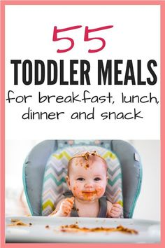 Over 50 easy toddler meals for a one year old. Sample meal ideas for breakfast, … Over 50 easy toddler meals for a one year old. Sample meal ideas for breakfast, lunch, dinner and snack. I've also included tips for brining lunch to daycare, too! Healthy Toddler Meals, Toddler Lunches, Kids Meals, Toddler Daycare, Lunch Meals, Toddler Food, Healthy Meals, Funny Toddler, Baby Meals