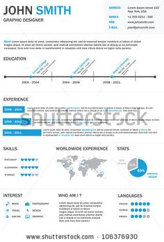 Find Infographic Resume Vector stock images in HD and millions of other royalty-free stock photos, illustrations and vectors in the Shutterstock collection. Resume Icons, Infographic Resume, Infographics, Visual Resume, Royalty Free Stock Photos, Graphic Design, Education, Portfolio Ideas, Timeline