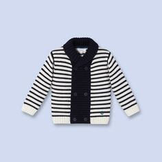 Double-breasted cardigan for baby