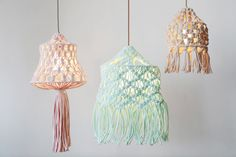DIY Macrame Lampshades - Plumen Teams Up with Wool and the Gang for a Fun Lighting Kit (GALLERY)
