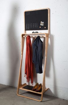 Leaning Loop Custom Wood Organizer #furniture #storage #solution