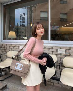 츄 chuu korea official ( Cute Korean, Korean Girl, Asian Woman, Asian Girl, Ulzzang, Pretty Asian, Pleated Mini Skirt, Fashion Outfits, Womens Fashion