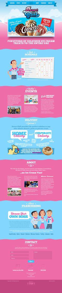 Desertchill #webdesign #inspiration #dessert