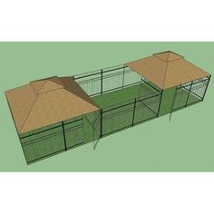 Great OutDogs 2 Windsor Complete Sets and 1 Windsor Sized Dog Kennel Frame Section-2 Gates