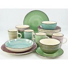 Large Fairmont /& Main Vie Naturelle Plate Set Turquoise Lot de 4