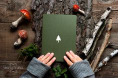 Forest  notebook with a carved pattern  Spruce by TheTwentyFingers, $10.00