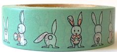 SALE Washi Tape Funny Bunny  10 Meters by MechaKucha808 on Etsy