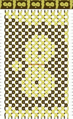 Normal friendship bracelet pattern #8068 -- BRACELETBOOK.COM
