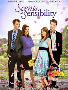 """""""Scents and Sensibility"""" DVD -- Cute movie! But I'm a die-hard Austenite.say that it's based on a Jane Austen and I'm bound to love it! Romantic Comedy Movies, Romance Movies, Hallmark Channel, Danielle Chuchran, Nick Zano, People Who Judge, Tv En Direct, Brad Johnson, Jane Austen Movies"""