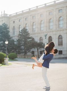 Romantic Vienna engagement session: Photography : Peter & Veronika Read More on SMP: http://www.stylemepretty.com/destination-weddings/2016/08/01/morning-walk-in-vienna-engagement/