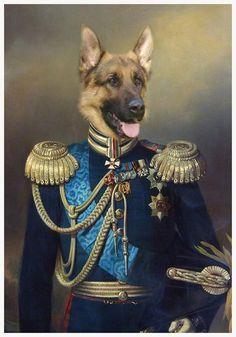 Dog Art Dog by Daniel Trammer, original painting by artist Art Animals | trammer.be