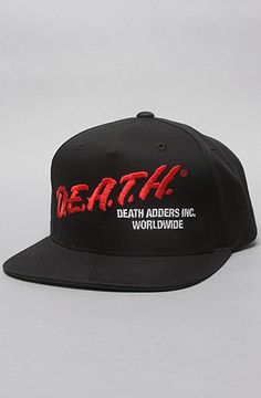 The D.E.A.T.H. Snapback Cap in Black by Mishka