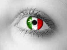 Another Italian eye Italian Side, Italian Girls, Cefalu Sicily, Italian Tattoos, Sicily Italy, Learning Italian, Eye Art, Color Splash, Eyes