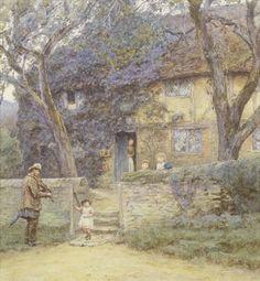 Helen Allingham, RWS (British, 1848-1926) The Fiddler