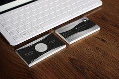 Elegant business cards black and silver. от FabioFerranteDesign