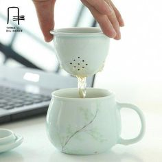 Apple Mug With Handle Lid Filter Handpainted Office Tea Cups Filter Ceramic Coffee cups and mugs Tea Set bone china gifts _ categoryName – AliExpress Mobile Version – Clay Mugs, Ceramic Clay, Ceramic Plates, Pottery Mugs, Ceramic Pottery, Pottery Art, Pottery Wheel, Pottery Gifts, Keramik Design