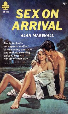 """The original cover artwork by Paul Rader for """"Sex on Arrival"""""""