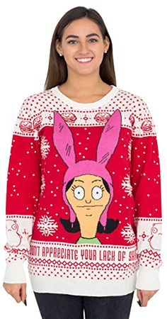 Louise Appreciate your Lack of Sarcasm Christmas Sweater. As a super fan of Bob's Burgers now you can show your love for the hit Fox animated series when you wear this officially-licensed Louise Appreciate your Lack of Sarcasm Christmas sweater. Couples Christmas Sweaters, Couple Christmas, Diy Ugly Christmas Sweater, Diy Christmas, Christmas Clothes, Christmas Fashion, Funny Christmas, Christmas Decorations, Bob's Burgers Merchandise