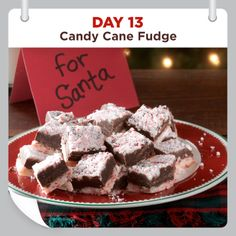 25 Days of Christmas Cheer :: Day 13 :: Candy Cane Fudge Recipe