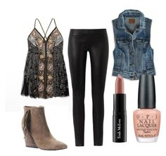 ChicChick by astoldbyalaina on Polyvore featuring Free People, American Eagle Outfitters, The Row, Isolá, Trish McEvoy and OPI
