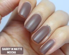 Brit Nails: Barry M Matte Nail Paint Swatches and Review