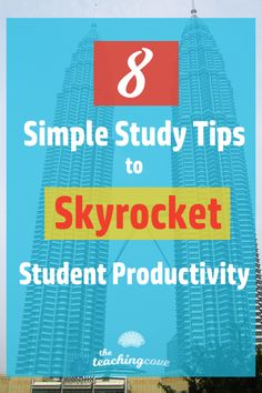 Want 8 simple study tips to help you study English? Are you an English teacher looking for help teaching study skills? Click to read the post on 8 simple study tips to help your students be productive. Study tips, study skills and productivity tips inside! Join The Teaching Cove at www.teachingcove.com to grab free English teaching printables, organization printables and motivational tips!