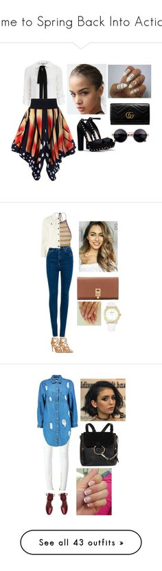 """""""Time to Spring Back Into Action"""" by cheresh ❤ liked on Polyvore featuring Michael Kors, Gucci, Dorothy Perkins, SHE MADE ME, Pull&Bear, MICHAEL Michael Kors, Versace, Balmain, Boohoo and Tory Burch"""