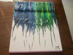 My first attempt at Melted Crayon Art.....it was pretty fun and easy to do....