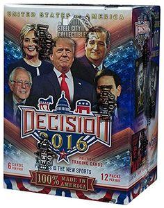2016 Leaf Decision 2016 Blaster Box - Donald Trump Hilary Clinton Bernie Sanders