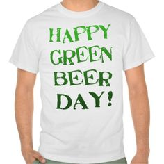 St. Patrick's Day Green Beer Day T-Shirt @zazzle