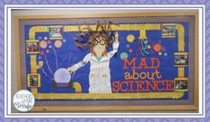 How to Create an Amazing Science Bulletin Board - Teachers are Terrific Science Bulletin Boards, Science Boards, Preschool Bulletin, Classroom Bulletin Boards, Classroom Ideas, Science Room, Mad Science, Preschool Science, Teaching Science