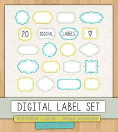 20 Digital Labels  Blue and Green  by aestheticaddiction on Etsy  https://www.etsy.com/listing/206001714/20-digital-labels-blue-and-green?ref=shop_home_active_6