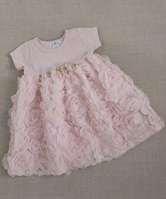 Blush Chiffon Rosette Dress - Infant & Toddler #zulily #zulilyfinds