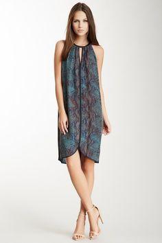 Silk Python Halter Dress